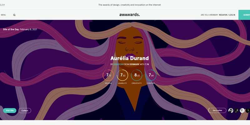 Screenshot awwwards.com
