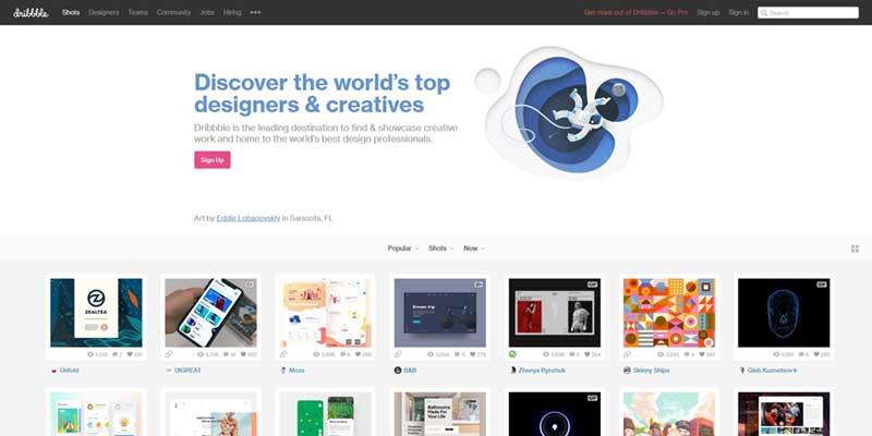 Screenshot dribble.com