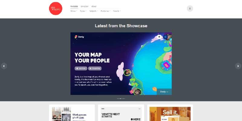 Screenshot siteinspire.com